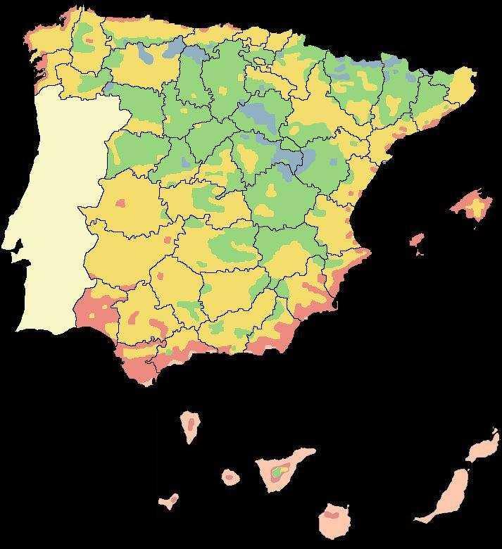 Zonas climaticas de espa a - Humedad relativa espana ...